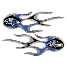 "NFL Football Team Logo 2 Pack Vinyl Micro Flame Graphics 5"" x 2"" Car Truck NEW"