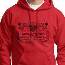DETROIT FIREFIGHTERS Kings of Fire T-shirt Fireman Beer Hoodie Sweatshirt
