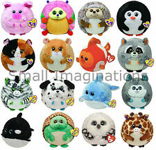 Ty Plush 7 inch Medium Size Beanie Ballz - Lots of Designs to Choose From