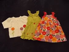 NWT Girl's Gymboree Pretty Posies flower dresses & sweater ~ 3-6 months