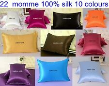 1 pc 22mm 100% Pure Silk Pillow Cases Side Zipper Closure Style