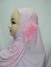 Stunning One Piece Hijab Scarf With Flower Decoration Many Colours