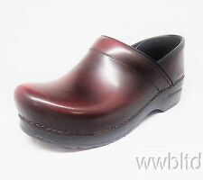 DANSKO PROFESSIONAL CORDOVAN CABRIO LEATHER CLOG - 806810202 -