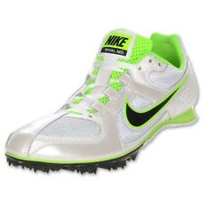 New Mens NIKE Rival MD 6 White Lime Green Black Track Spikes Shoes 5.5 9 10.5 12