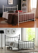 Metal Bed frame in Black & Ivory All Sizes 4ft small 4ft6 double 5ft king size