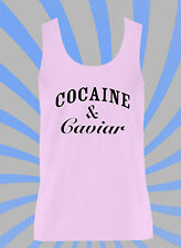 COCAINE AND CAVIAR FEMALE VEST - TUMBLR FAMOUS COOL DOPE A$AP ROCKY UK US PINK
