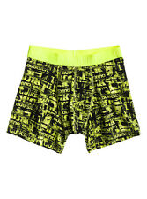MENS QUIKSILVER BOXER SHORTS NEON IMPOSTER YELLOW & BLACK UNDERWEAR