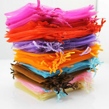 200 pieces Luxury Sheer Organza Wedding Favor Gift Candy Bags Jewellery Pouches