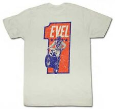 AUTHENTIC EVEL KNIEVEL NUMBAH ONE STUNT MAN DAREDEVIL MOTORCYCLE T SHIRT S-2XL