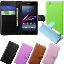 Premium Leather Flip Stand Case Cover Wallet for Sony experia Z1 Compact Phone