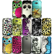 For ZTE Savvy Z750C Phone Snap On Case Rubberized Hard Image Cover