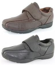Trainers Womens Wide Fit Fleece Lined Shoes Black Brown Size 3-8 New