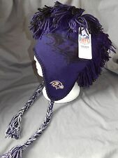 Baltimore Ravens Youth Size 8-20 NFL Mohawk Beanie Winter Hat Ear Flaps New
