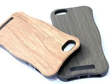 For iPhone 5 5S - HARD RUBBER GUMMY ID CARD HOLDER SKIN CASE COVER WOOD OAK TREE