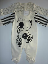 NEXT 2 Gorgeous Little Girls Sleepsuits with Matching Headband NWT