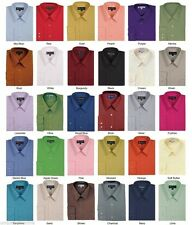 Men's Cotton Blend Plain Solid Basic Dress Shirt MS02