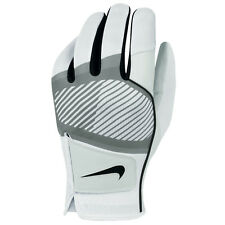 Nike Golf 2014 Mens Tech Flow Leather Synthetic Golf Glove - LH - White/Grey