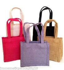 Cheap Jute Gift Bag Eco Friendly Hessian Bags with Handles Small Jute Party Bag