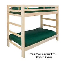 Twin over Twin Spirit Bunk Bed and Trundle: Optional Golden Oak Finish