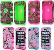 Hybrid CAMO Tree Rugged Rubber Hard Tough Case Cover For iPod Touch 4 4th Gen.