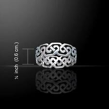 Celtic Spiral Ring TR392 Size Selectable
