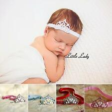 Princess Baby Girl Headband Rhinestone Crown Tiara Photo Pro Wedding Christening