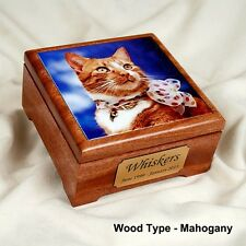 Small Pet Cremation Urn with a Photo Tile Insert