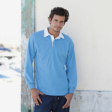Front Row FR100 Long Sleeve Plain Rugby Shirt Rugby Top