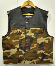 "Company Leatherwear Club Kutte""Bad Co.TEX""Camouflage/black Leder/Textilmix Weste"