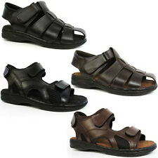 MENS LEATHER SANDALS WALKING SPORTS HIKING TRAIL SURFING SUMMER BEACH SHOES SIZE