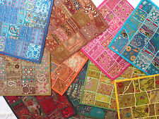 """Indian Cushion Covers hand made patchwork embroidered 40cm x 40cm (16"""" x 16"""")"""
