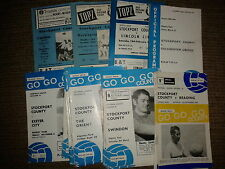 Stockport County 1968/69 & 1969/70 HOME programmes choose from list FREE UK P&P
