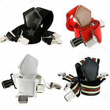 Men Fashion Metal Clip Classic X Shape Suspenders Adjustable Elastic Braces