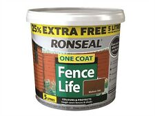 RONSEAL FENCE LIFE ONE COAT 25% FREE 5 LITRES FOR THE PRICE OF 4 LITRES