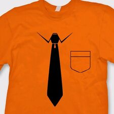 Tie And Pocket Funny Business T-shirt Novelty Gag Gift Tee Shirt