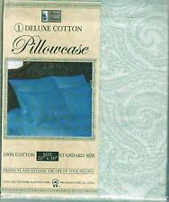 100% Deluxe Cotton Standard Pillow Case Various Patterns  New