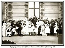 ROYAL GROUP ON WEDDING OF PRINCESS BEATRICE AND PRINCE HENRY OF BATTENBERG PRINT