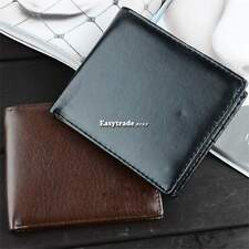 Luxury Mens Faux Leather Business Wallet Purse Pocket Case Bag ESY1 Brown/Black