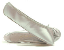 Ivory Satin Suede Full Sole Ballet Shoes Childs & Adults All Sizes By Katz