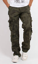 Men's Combat Pockets Utility Military Army Cargo Pants Work Trousers Camouflage
