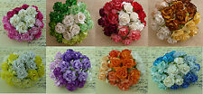 50 Mixed Large 30mm Mulberry Paper Wild Roses Flowers For Card Making Craft
