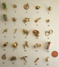 Selection of Lovely Unusual / Rare / Interesting Vintage 9ct Gold Charms