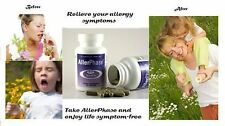 AllerPhase Natural Allergy Relief W/O Side Effects 30 or 60 Caps Sizes