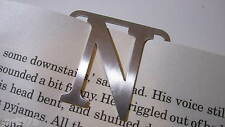 Metal Stainless Steel Clip on Letter Bookmark Choice of Letters NEW Free Post.