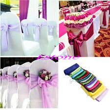 One Satin Chair Cover Sash Bow Wedding Party Colors Decorations 15cm X 275cm