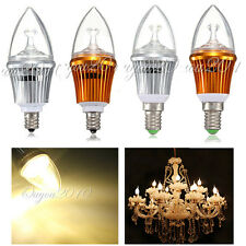 E12/E14 Base 3 LED Dimmable Warm white Candelabra Candle Light Lamp Bulb 3W≈40W