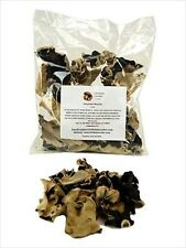 DEHYDRATED WOOD EAR MUSHROOMS - DRIED EDIBLE GOURMET TREE EAR FUNGI - 1 OR 4 OZ