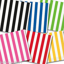 16 Candy STRIPES Striped Party Supplies 33cm Paper Tableware Luncheon Napkins