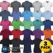3 x Ladies Polo Shirt Top Casual Size 8 10 12 14 16 18 20 22 24 Club Womens 2LPS