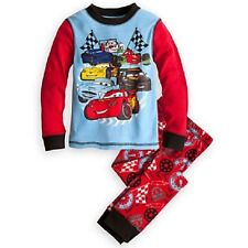 NWT Genuine Disney Store Cars Lightning McQueen PJ Pal Pajamas boys size 3, 4, 5